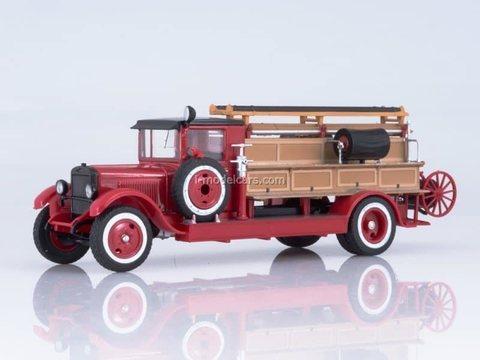 ZIS-11 PMZ-1 fire truck 1:43 DeAgostini Auto Legends USSR Trucks SE#7