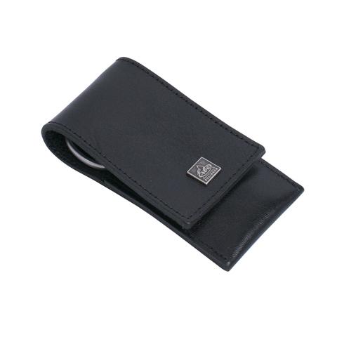 Маникюрный набор Erbe, 3 предмета, кожаный футляр, цвет черный