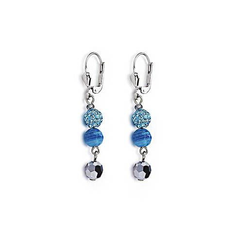 Серьги Coeur de Lion 4895/20-0600 цвет голубой