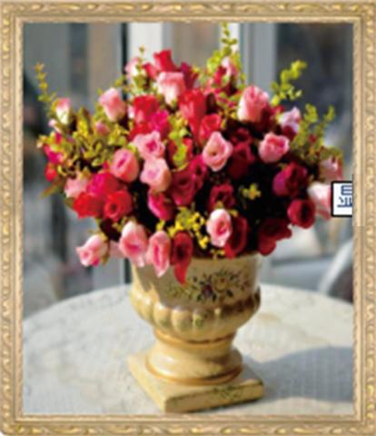 Алмазная Мозаика 40x50 Розы в античной вазе