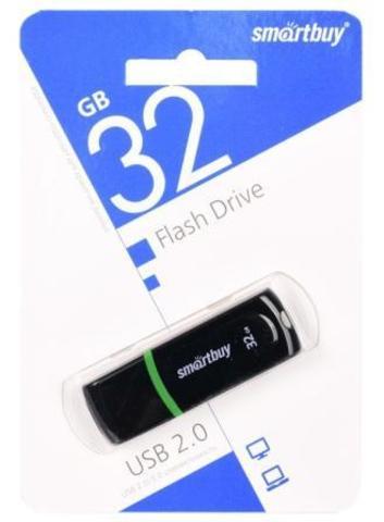 Флеш-накопитель USB  32GB  Smart Buy Paean чёрный