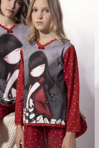 Пижама для девочек с брюками SANTORO 54493