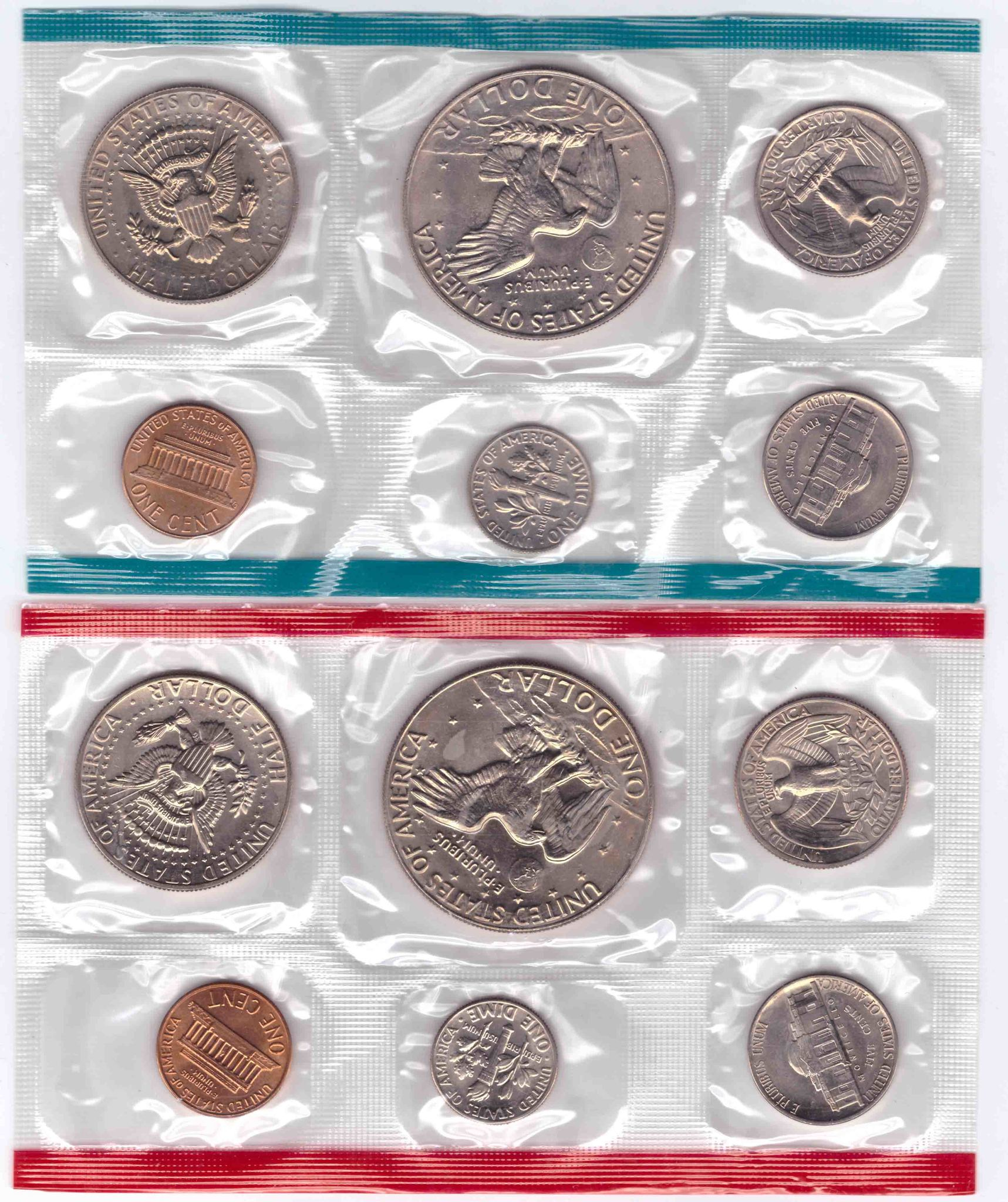 Набор США 1978 (P и D) UNC (12 монет) в родном конверте.