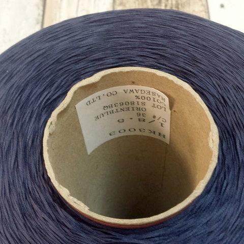 Хлопок 100%  HASEGAWA HK3003  1/8.5 синий меланж