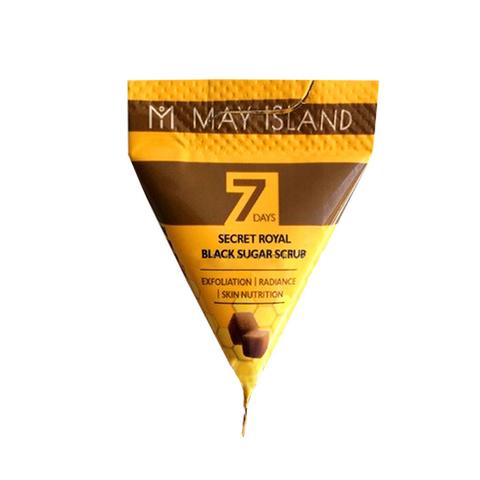MAY ISLAND] Скраб с черным сахаром 7days SECRET ROYAL BLACK SUGAR SCRUB (V1) 5g)