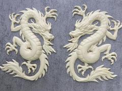 Силиконовый молд № 0282 Китайский дракон правый