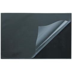 Коврик на стол Attache Economy 530х660мм черный с прозрачным верхним листом