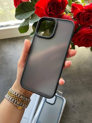Чехол iPhone 13 Pro Max Rock Guard Series matte /black/