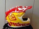 Кроссовый шлем NENKI NK-316, жёлтый-красный-белый