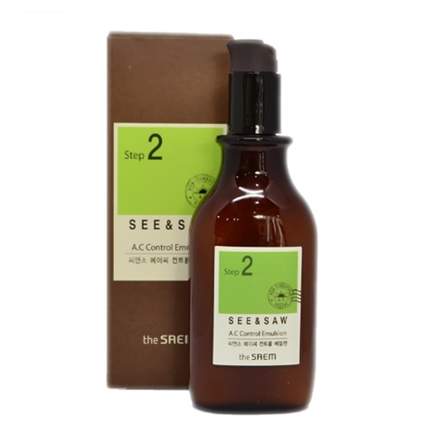 The Saem See & Saw AC Control Emulsion эмульсия контроль чистоты и жирности кожи
