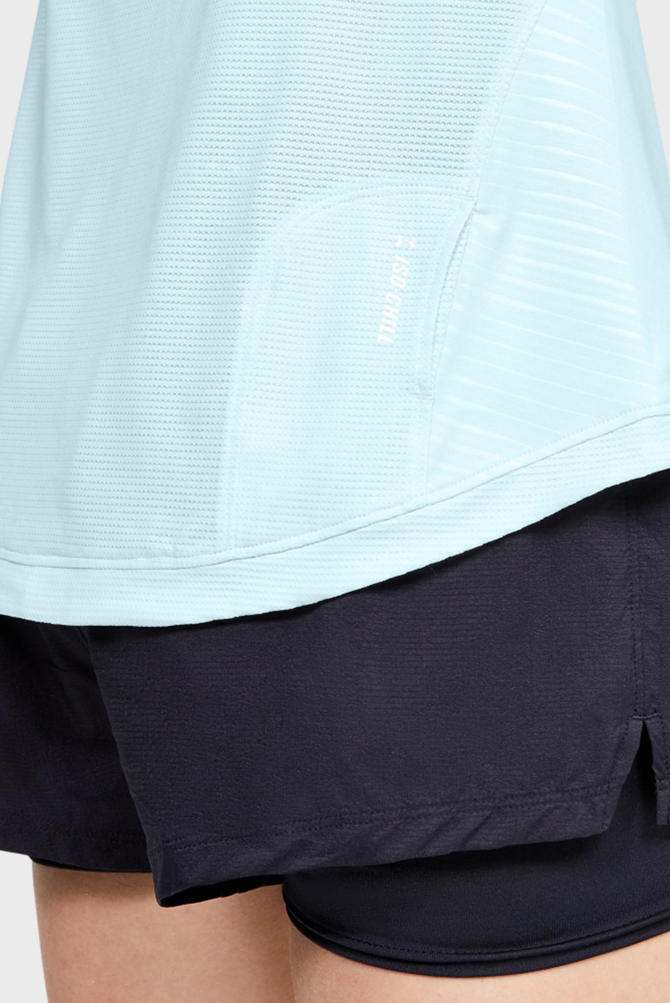 Женская голубая спортивная футболка UA W Qualifier ISO Under Armour