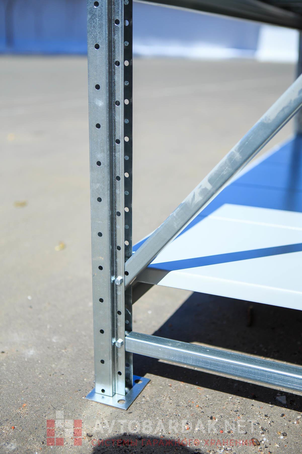 Усиленный металлический стеллаж (глубина 800, высота 1500 мм)