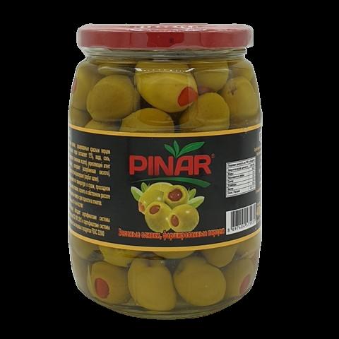 Оливки зеленые фаршированные перцем в рассоле PINAR, 400 гр