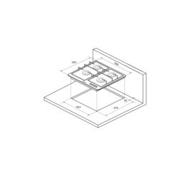 Варочная панель Kuppersberg FV6TGRZ ANT Silver - схема