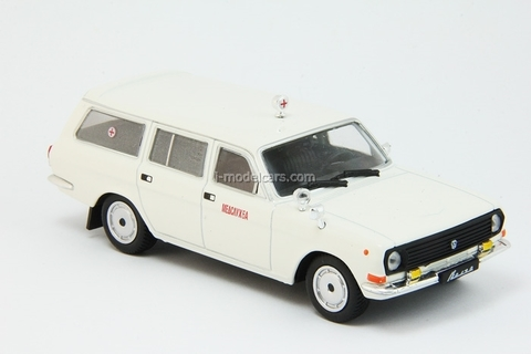 GAZ-24-13 Volga Medical Service Ambulance 1:43 DeAgostini Auto Legends USSR #207