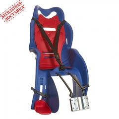 Велокресло для детей HTP SANBAS T (синее), крепление к подседельной трубе