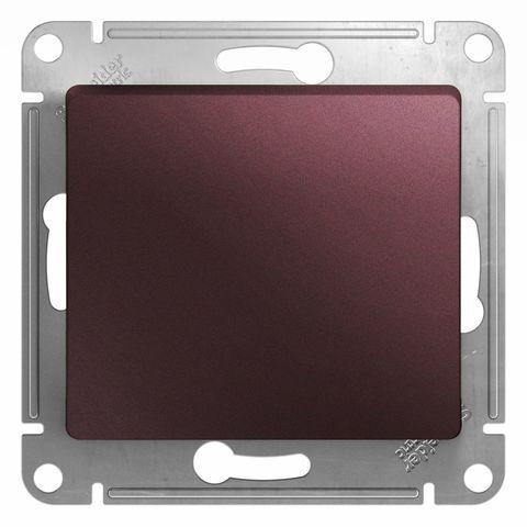 Выключатель одноклавишный, 10АХ. Цвет Баклажановый. Schneider Electric Glossa. GSL001111