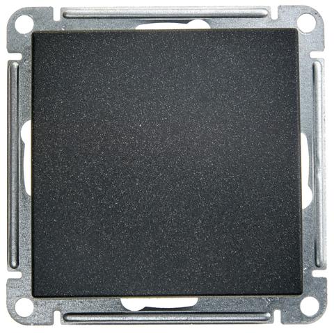 Выключатель одноклавишный, 16АХ. Цвет Чёрный бархат. Schneider Electric Wessen 59. VS116-154-6-86