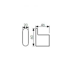 Крючок одинарный KAISER Franco BL KH-2722 схема