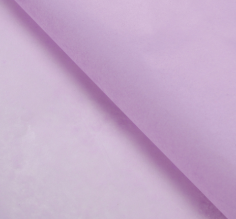 Бумага упаковочная тишью, сиреневый, 50 х 66 см