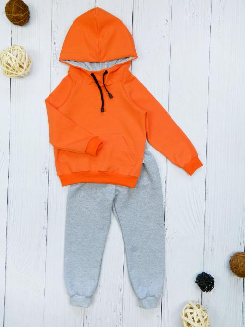 Костюм 3031, оранжево-серый