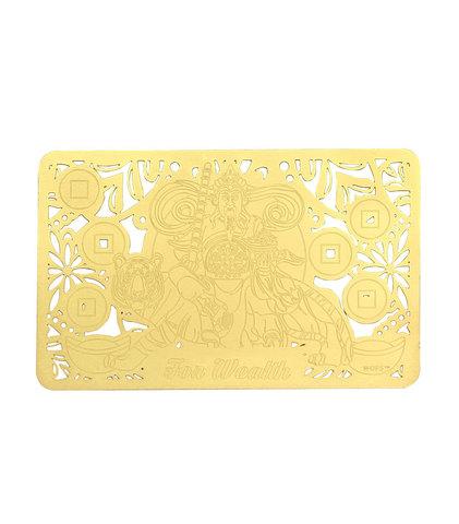 Золотая карточка Увеличь свое богатство и удачу с тигром