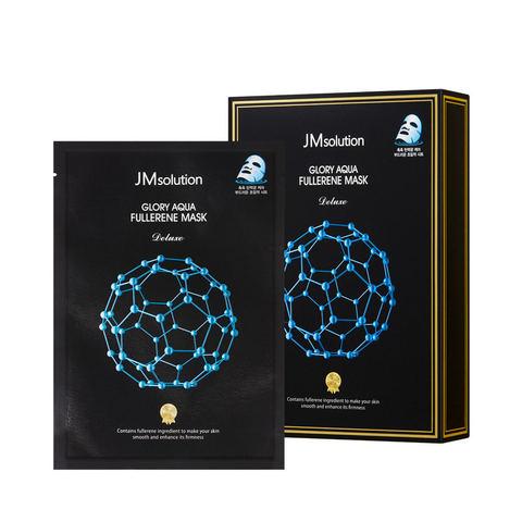 JMSolution Glory Aqua Fullerene mask Deluxe тканевая маска с фуллереном и пептидами для гладкой и упругой кожи
