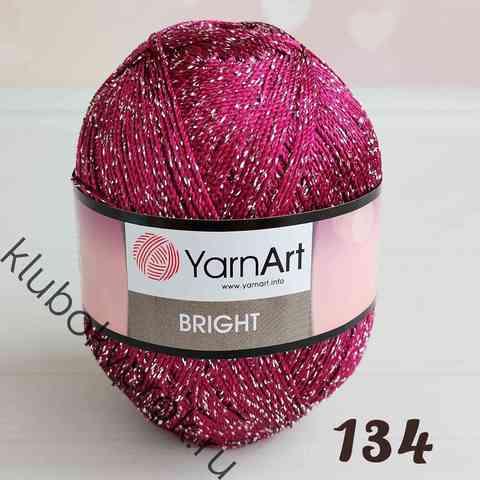 YARNART BRIGHT 134, Красный серебро