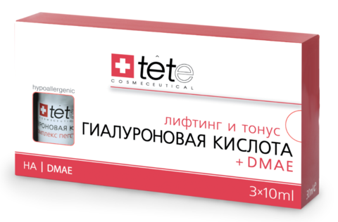Гиалуроновая кислота + ДМАЕ / TETe Hyaluronic Acid + DMAE 3*10 ml