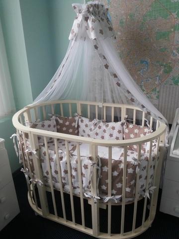Комплект в круглую кроватку