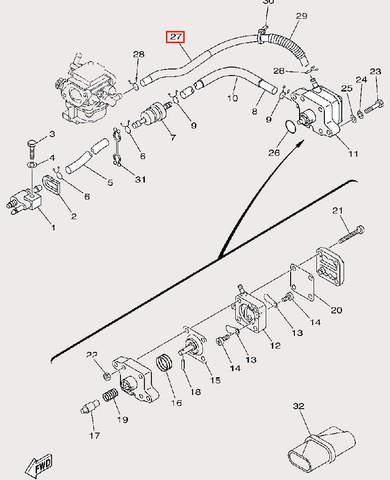 Шланг топливный для лодочного мотора F9,9 Sea-PRO (9-27)