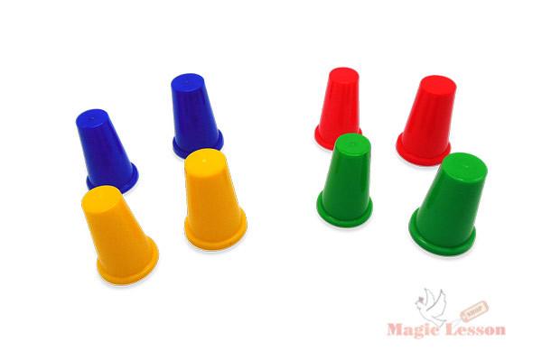 Наперстки для фокусов разноцветные