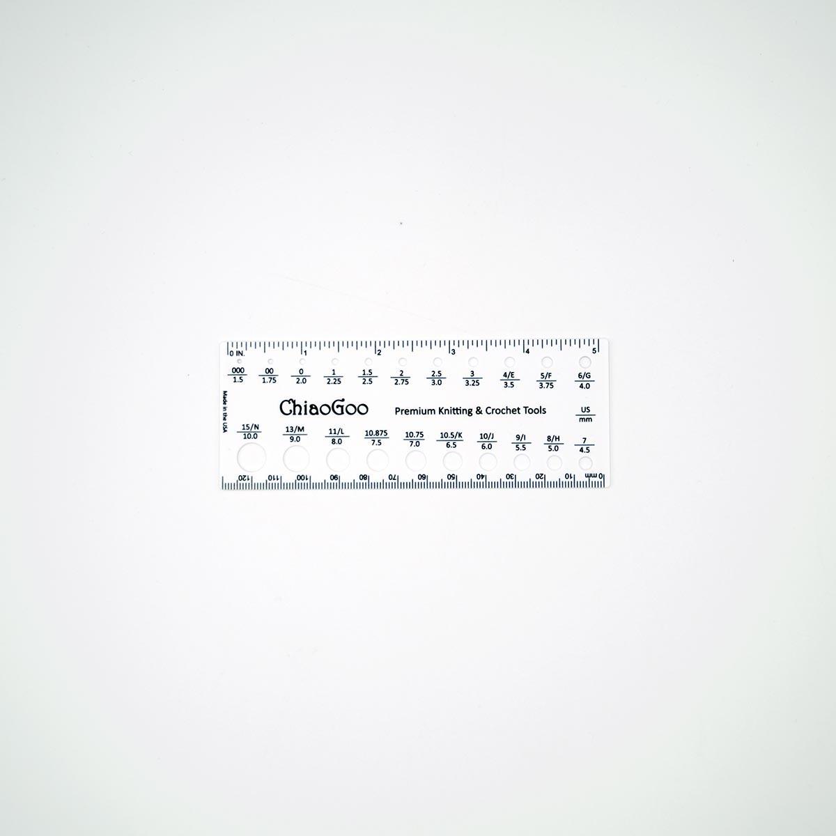 Линейка для определения размера спиц, ChiaoGoo