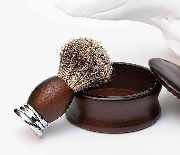 RAZ493 Деревянная чаша для бритья с крышкой фото 09