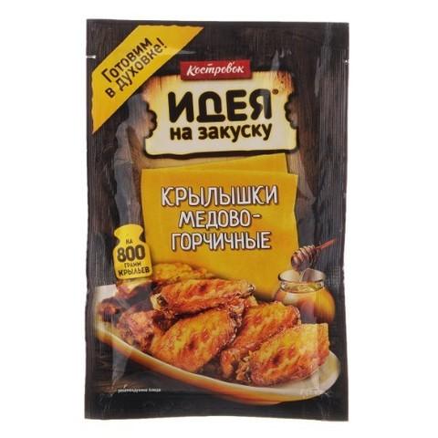 Маринад для приготовления Крылышек Медово-горчичных Костровок, 80г