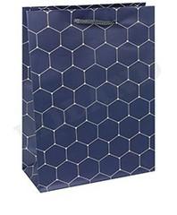 Пакет подарочный Стильная геометрия 14х20х6.5 см, 1 шт.
