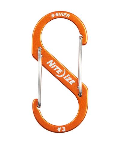 Карабин металлический NiteIze S-Biner Carabiner, алюминевый,размер 3, оранж.