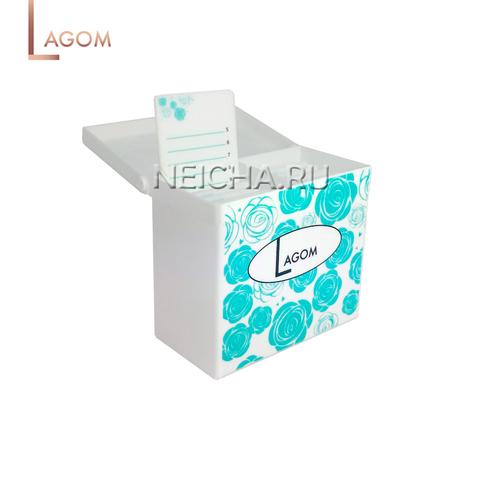Лэшбокс LAGOM на 10 палеток (белый)