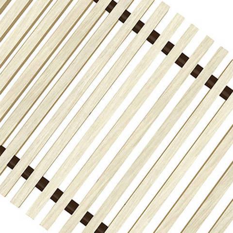 Решетка поперечная деревянная Techno шириной 200 мм, длина 1200 мм (цвет светлое дерево)