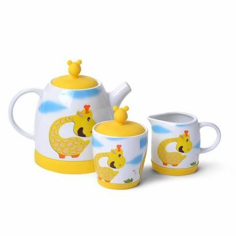 """9366 FISSMAN Чайный набор """"Жираф"""" - чайник заварочный, сахарница, молочник,  купить"""