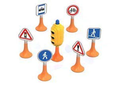 Набор дорожные знаки №1 (светофор, 6 знаков)
