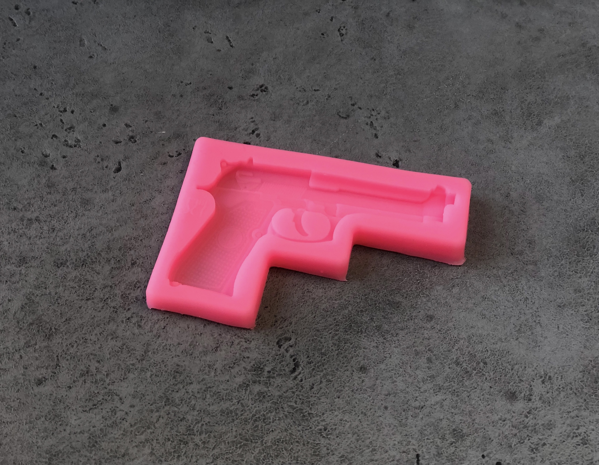 Силиконовая форма/молд «Пистолет», 11×7,5×1 см