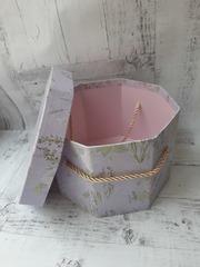 Коробка подарочная, восьмиугольная 18,5см