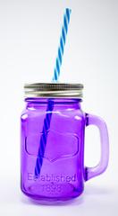 Баночка для смузи и коктейлей, фиолетовая, фото 1