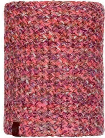 Шарф-труба вязаный с флисом Buff Neckwarmer Knitted Polar Margo Flamingo Pink фото 1