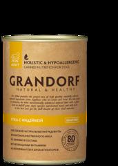 Grandorf консервы для взрослых собак, Утка c Индейкой.