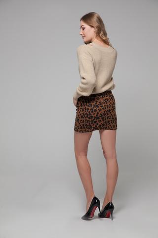 Юбка короткая леопардовая магазин