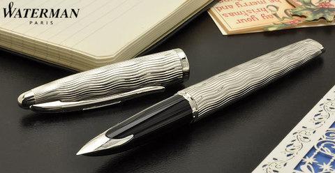 *Перьевая ручка Waterman Carene Essential, цвет: Silver ST, перо: F123