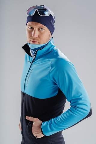 Разминочная куртка Nordski Premium Light Blue/Black мужская