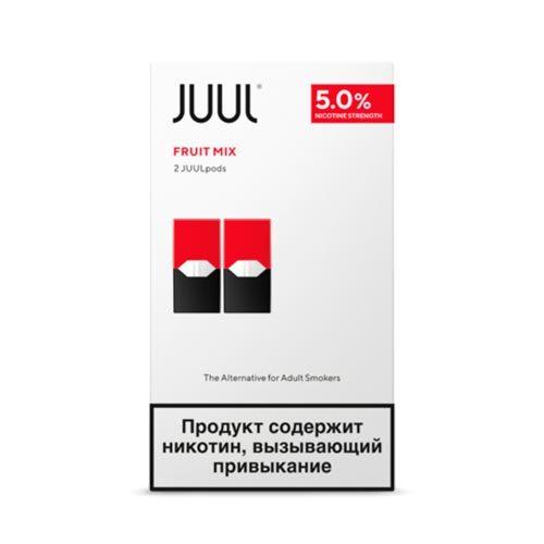 Сменный Картридж для JUUL. ДЖУЛ Фруктовый Микс х2, 0,7 мл 50 мг